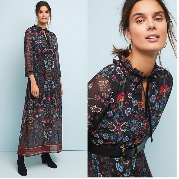 Anthropologie Dresses & Skirts - ANTHROPOLOGIE Camila Floral Dress nwt